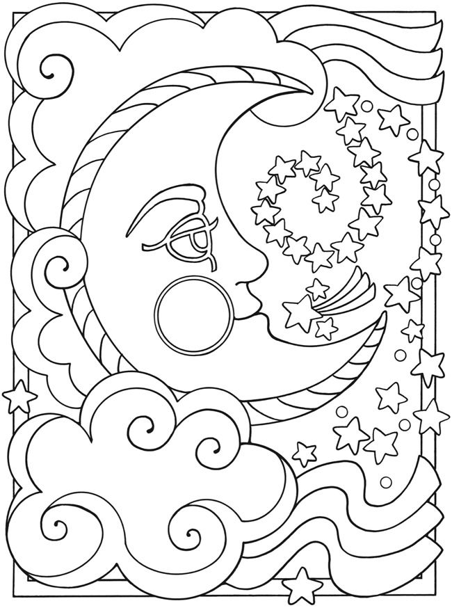 Colouring pages mobile planetarium